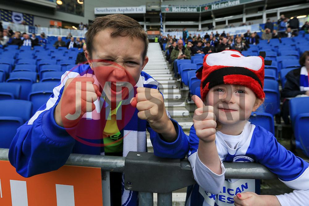 Brighton & Hove Albion fans - Mandatory byline: Jason Brown/JMP - 07966 386802 - 19/12/2015 - FOOTBALL - American Express Community Stadium - Brighton,  England - Brighton & Hove Albion v Middlesbrough - Championship