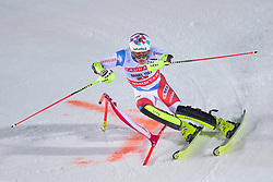 19.02.2019, Stockholm, SWE, FIS Weltcup Ski Alpin, Parallelslalom, Herren, im Bild Daniel Yule (SUI) // Daniel Yule of Switzerland in action during the men's parallel slalom of FIS ski alpine world cup at the Stockholm, Sweden on 2019/02/19. EXPA Pictures © 2019, PhotoCredit: EXPA/ Nisse Schmidt<br /> <br /> *****ATTENTION - OUT of SWE*****
