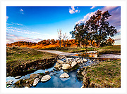 Late afternoon at a quiet creek crossing on a New England country road. Fresh edit for 2019. [Paradise, Inverell district, NSW, Australia]<br /> <br /> Image ID: 109095. Order by email to orders@girtbyseaphotography.com quoting the image ID, preferred print size & media. Current standard size prices are published on the Pricing page. Custom sizes also available.