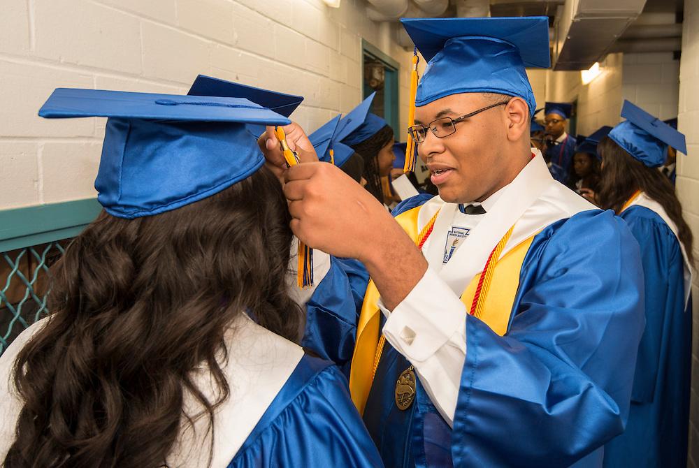 Booker T Washington High School commencement at Delmar Fieldhouse, June 8, 2013.