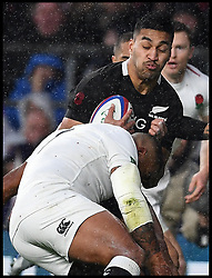 November 10, 2018 - London, London, United Kingdom - England face the All Blacks at Twickenham Stadium during the Quilter Internationals 2018. New Zealand Rieko Loane  is tackled by England's Kyle Sinckler   during the Quilter Internationals 2018 game at Twickenham  (Credit Image: © Andrew Parsons/i-Images via ZUMA Press)
