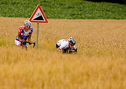 Blaz Jarc and Grega Bole at Slovenian National Championships in Road cycling, 178 km, on June 28 2009, in Mirna Pec, Slovenia. (Photo by Vid Ponikvar / Sportida)