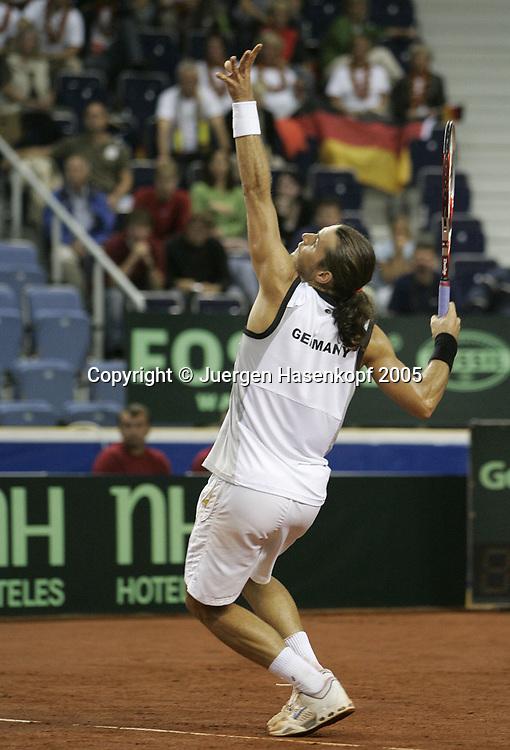 TOMMY HAAS (GER), Davis CUP 2005, Cze.ch Rep.-GER, Liberec<br /> <br /> Tennis - Davis Cup 2005 - ITF Davis Cup -  Arena Tipsport - Liberec -  - Czech Republic - 23 September 2005. <br /> &copy; Juergen Hasenkopf