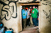 Rave at a squat, Spain, January 2014