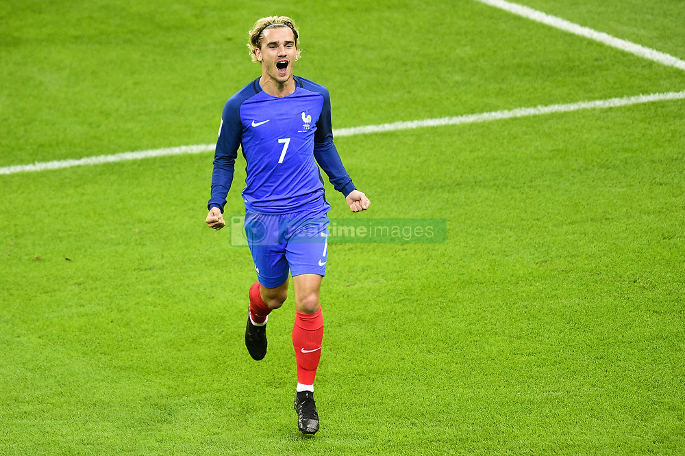 October 10, 2017 - St Denis, France, France - joie de Antoine Griezmann (France) apres son but (Credit Image: © Panoramic via ZUMA Press)