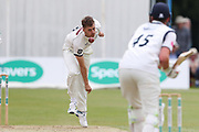 Ben Coad of Yorkshire bowling during the Specsavers County Champ Div 1 match between Yorkshire County Cricket Club and Warwickshire County Cricket Club at York Cricket Club, York, United Kingdom on 18 June 2019.