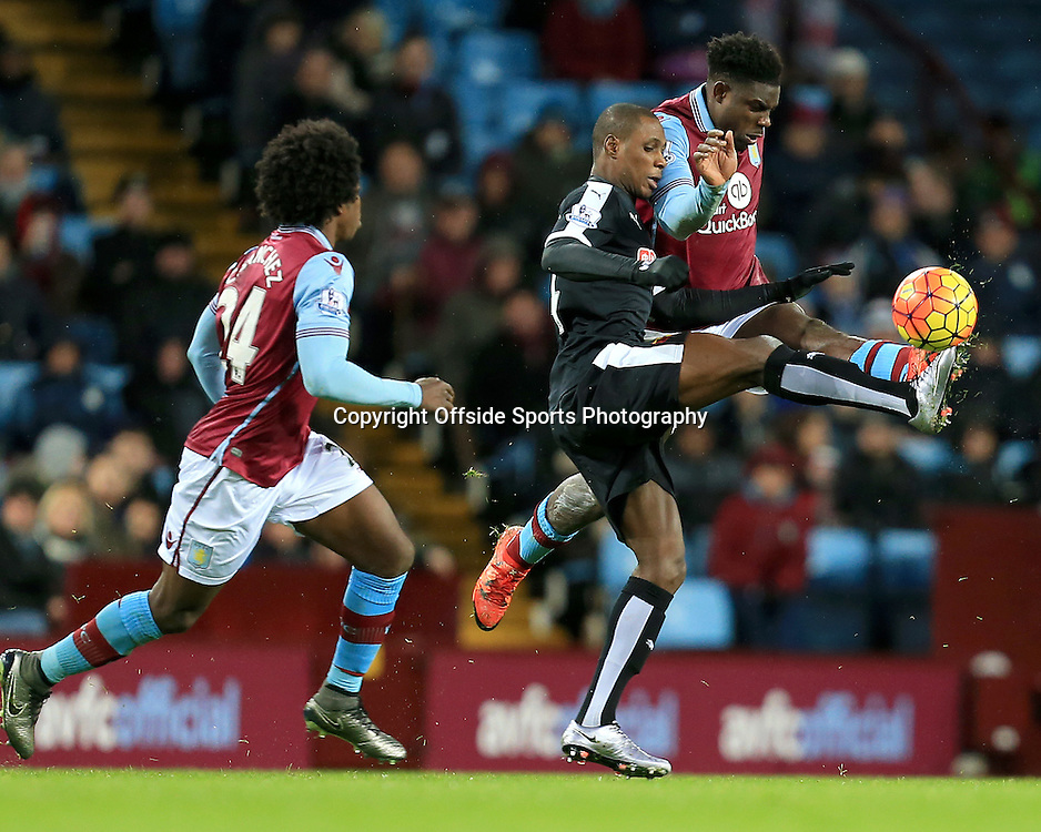 28th November 2015 - Barclays Premier League - Aston Villa v Watford -  Odion Ighalo of Watford battles Micah Richards of Aston Villa for the ball - Photo: Paul Roberts / Offside.