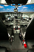 The cockpit panel of a Lockheed 12A Electra Junior, owned and flown by Joe Shepherd of Fayetteville, Georgia.  In the late 1930's, this aircraft was the executive aircraft of it's day, and many were pressed into service by the military during WWII.
