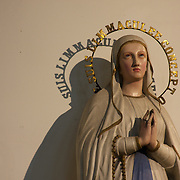 Our lady Mary inside of the  St. Elisabeth Cathedral in Mons