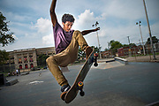 Angel. Whitehall skate park in Frankford, Philadelphia.