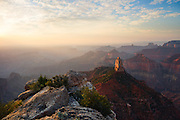 Sunrise from Point Imperial on the North Rim of Grand Canyon National Park in Arizona.