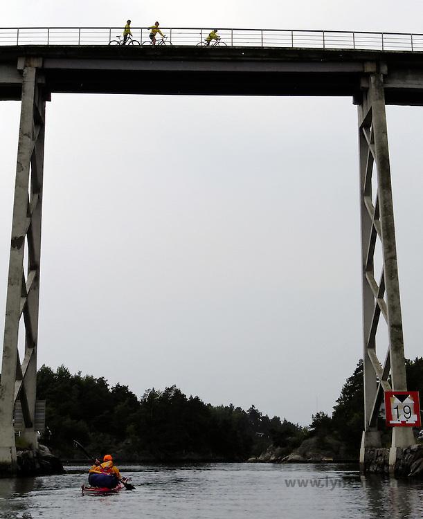 kayaking Blindleia - padle Blindleia