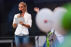 Anja Bohinc during reception of Slovenian Olympic Team at Kongresni Trg when they came back from London after Summer Olympic games 2012, on August 14, 2012 in Center of Ljubljana, Slovenia (Photo by Matic Klansek Velej / Sportida.com)
