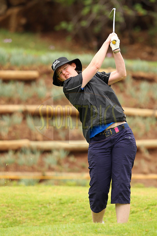 Jane Kenny during the first round of the Sanlam Cancer Challenge Finals held at Lost City Golf Course Club in Sun City near Johannesburg on the 21st October 2013<br /> <br /> Photo by Ron Gaunt - SPORTZPICS