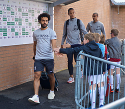 BURNLEY, ENGLAND - Saturday, August 31, 2019: Liverpool's Mohamed Salah arrives before the FA Premier League match between Burnley FC and Liverpool FC at Turf Moor. (Pic by David Rawcliffe/Propaganda)