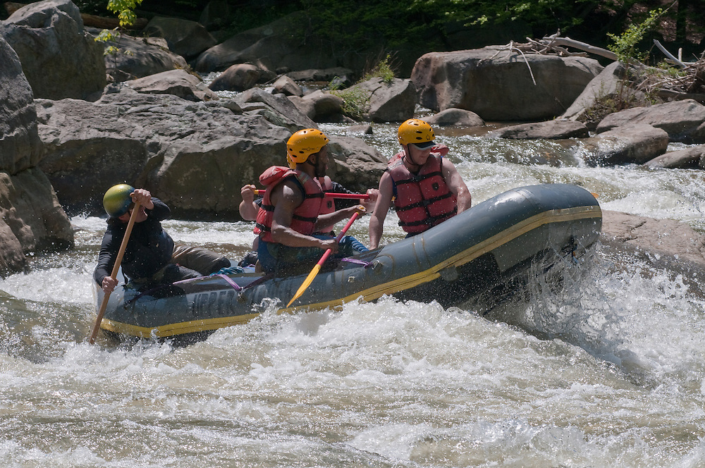 Group whitewater rafting on the Upper Youghageny River near Friendsville MD