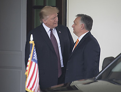 May 13, 2019 - Washington, District of Columbia, U.S. - United States President Donald J. Trump welcomes Prime Minister Viktor Orban of Hungary to the White House in Washington, DC on Monday, May 13, 2019.  The two leaders will meet for about an hour  (Credit Image: © Ron Sachs/CNP via ZUMA Wire)