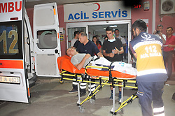 A total of 590 Turkish soldiers were hospitalized late Saturday, on 17 June, in western Manisa province, Turkey, following complaints of nausea and vomiting. The soldiers' complaints at the 1st Infantry Training Battallion Command began after the dinner meal. Police early Sunday arrested 19 employees, including executives, of the catering company that provides food to the military at the compound where the incident occurred. On May 23, more than 1,000 soldiers were hospitalized after the dinner and one died. Photo by Ahmet Unsal/Depo Photos/ABACAPRESS.COM