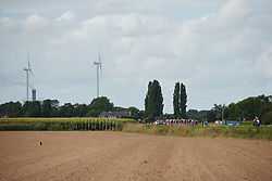 The peloton approach across the open landscape at Boels Ladies Tour 2019 - Stage 5, a 154.8 km road race from Nijmegen to Arnhem, Netherlands on September 8, 2019. Photo by Sean Robinson/velofocus.com