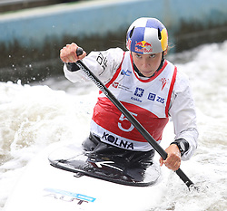 July 1, 2018 - Krakow, Poland - 2018 ICF Canoe Slalom World Cup 2 in Krakow. Day 2. On the picture: VIKTORIA WOLFFHARDT (Credit Image: © Damian Klamka via ZUMA Wire)