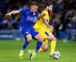 Jamie Vardy of Leicester City in action - Mandatory by-line: Matt McNulty/JMP - 27/09/2016 - FOOTBALL - King Power Stadium - Leicester, England - Leicester City v FC Porto - UEFA Champions League