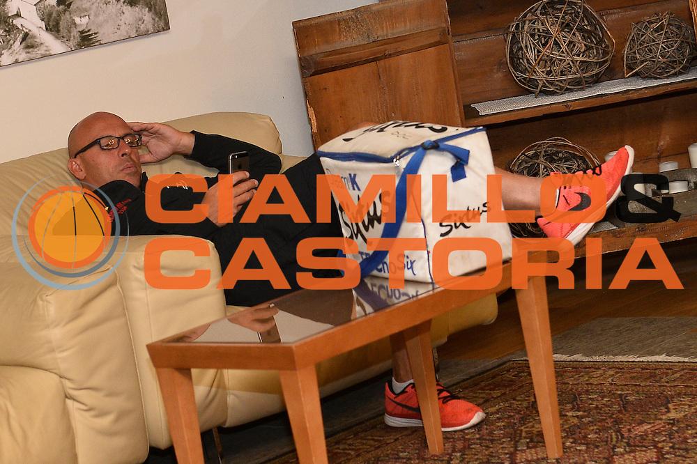 Marco Bigoni <br /> EA7 Emporio Armani Olimpia Milano Hotel<br /> Lega Basket Serie A 2016/2017<br /> Bormio 02/09/2016<br /> Foto Ciamillo-Castoria