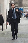 2013/04/20 Roma, arrivo dei grandi elettori in Parlamento, per la terza giornata di votazioni per l'elezione del Presidente della Repubblica. Nella foto Umberto Ambrosoli..Rome, arrivals of electors to Parliament, for the third election day of the President of the Republic. In the picture Umberto Ambrosoli - © PIERPAOLO SCAVUZZO