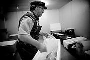 Pietro Principato, born in Sicily, works as a butcher at the Monterey Fish Co. in Monterey, CA on Monday, January 29, 2007.