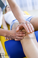 Manual therapy, Kaltenborn, Cox arthrosis, mobilisation knee, rehabilitation (model-released)