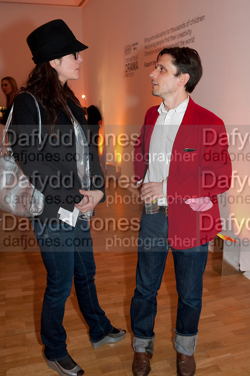 FIONA BANNER; JEREMY DELLER, TODÕS Art Plus Drama Party 2011. Whitechapel GalleryÕs annual fundraising party in partnership  with TODÕS and supported by HarperÕs Bazaar. Whitechapel Gallery. London. 24 March 2011. -DO NOT ARCHIVE-© Copyright Photograph by Dafydd Jones. 248 Clapham Rd. London SW9 0PZ. Tel 0207 820 0771. www.dafjones.com.<br /> FIONA BANNER; JEREMY DELLER, TOD'S Art Plus Drama Party 2011. Whitechapel Gallery's annual fundraising party in partnership  with TOD'S and supported by Harper's Bazaar. Whitechapel Gallery. London. 24 March 2011. -DO NOT ARCHIVE-© Copyright Photograph by Dafydd Jones. 248 Clapham Rd. London SW9 0PZ. Tel 0207 820 0771. www.dafjones.com.