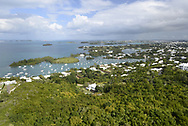 View over Great Sound, Bermuda Island, a British island territory in the North Atlantic Ocean.