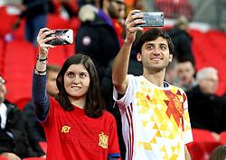 Spain fans take pictures of Wembley on their phones - Mandatory by-line: Robbie Stephenson/JMP - 15/11/2016 - FOOTBALL - Wembley Stadium - London, United Kingdom - England v Spain - International Friendly
