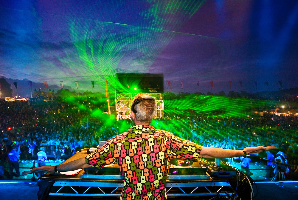 DJ Fatboy Slim headlining at Rockness,  2008.