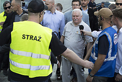 July 4, 2018 - Warsaw, Poland - Former President of Poland Lech Walesa visits protesters near Supreme Court in Warsaw on July 4, 2018. (Credit Image: © Maciej Luczniewski/NurPhoto via ZUMA Press)