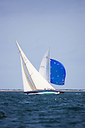 Northern Light sailing in the Nantucket 12 Metre Class Regatta, day two.