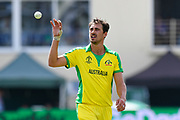 Mitchell Starc of Australia during the ICC Cricket World Cup 2019 match between Afghanistan and Australia at the Bristol County Ground, Bristol, United Kingdom on 1 June 2019.