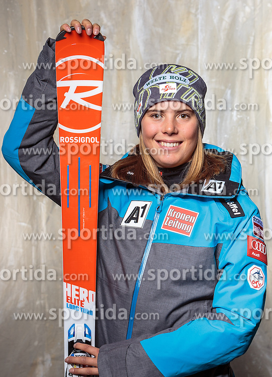 08.10.2016, Olympia Eisstadion, Innsbruck, AUT, OeSV Einkleidung Winterkollektion, Portraits 2016, im Bild Katharina Liensberger, Ski Alpin, Damen // during the Outfitting of the Ski Austria Winter Collection and official Portrait Photoshooting at the Olympia Eisstadion in Innsbruck, Austria on 2016/10/08. EXPA Pictures © 2016, PhotoCredit: EXPA/ JFK