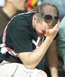 29.04.2011, Fritz-Walter Stadion, Kaiserslautern, GER, 1. FBL, 1.FC Kaiserslautern vs FC St. Pauli, im Bild ein weinender St. Pauli Fan, EXPA Pictures © 2011, PhotoCredit: EXPA/ nph/  Roth       ****** out of GER / SWE / CRO  / BEL ******