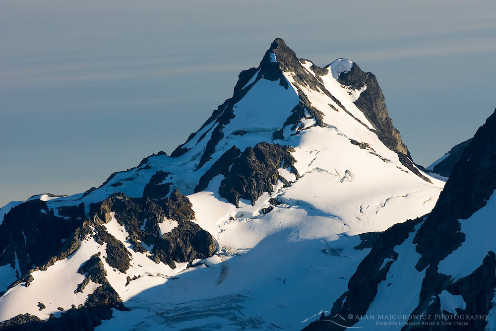 Mount Matier (2783 m 9131 ft) from the North displaying the Anniversary Glacier, Coast Range British Columbia Canada