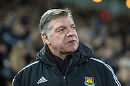 Sam Allardyce Manager of West Ham United during the FA Cup match at the Boleyn Ground, London<br /> Picture by David Horn/Focus Images Ltd +44 7545 970036<br /> 13/01/2015
