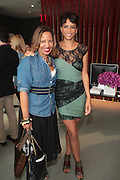 13 September 2010- New York, NY- l to r: Bille Causieesko and Veronica Webb at I-Ella.com launch party where you can edit your wardrobe and shop celebrity closets while supporting social change sponsored by InStyle on September 13, 2010 and held at Alice Truly Hall, Lincoln Center in New York City. Photo Credit: Terrence Jennings