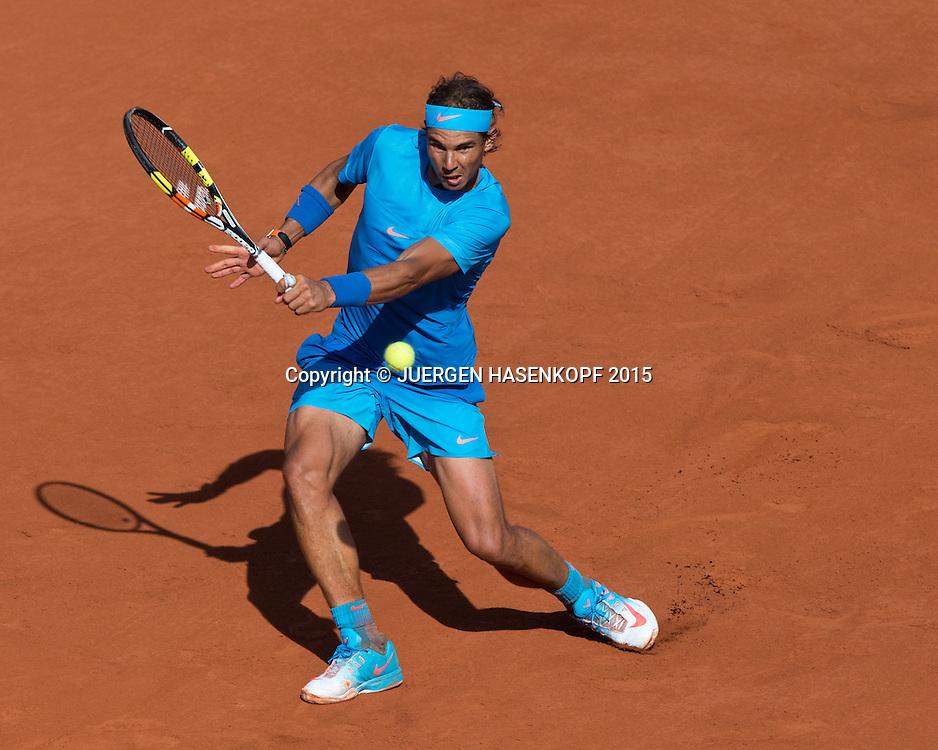 Rafael Nadal (ESP)<br /> <br /> Tennis - French Open 2015 - Grand Slam ITF / ATP / WTA -  Roland Garros - Paris -  - France  - 3 June 2015.