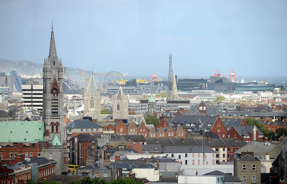 View from the GRAVITY bar at the top of the Guinness Storehouse.