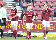 Alex Revell of Northampton Town holds his head asfter scoring during the EFL Sky Bet League 1 match between Northampton Town and Scunthorpe United at Sixfields Stadium, Northampton, England on 14 January 2017. Photo by Andy Handley.