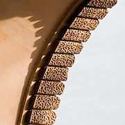 Tight shot I that looks like a zipper of Architectural Details at the Louvre, Paris, France.