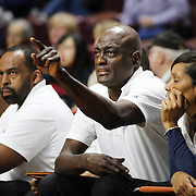 UNCASVILLE, CONNECTICUT- MAY 05:  Atlanta Dream head coach Michael Cooper on the sideline during the Atlanta Dream Vs Chicago Sky preseason WNBA game at Mohegan Sun Arena on May 05, 2016 in Uncasville. (Photo by Tim Clayton/Corbis via Getty Images)