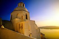 Fira, the island of Santorini, the Cyclades, Greece