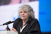 """19 SEP 2012, HAMBURG/GERMANY:<br /> Ada Yonath, Nobelpreisträgerin, Weizmann Institut of Science, haelt eine Rede, Max von Laue-Fest """"Vorstoß in den Nanokosmos - Von Max Laue zu PETRA III"""" mit Taufakt der PETRA III-Experimentierhalle """"Max von Laue"""", Deutsches-Elektronen-Synchrotron, DESY<br /> IMAGE: 20120919-01-241"""