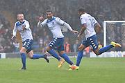 Bury Midfielder,  Jacob Mellis (18) scores 2-0 during the EFL Sky Bet League 1 match between Bury and Port Vale at the JD Stadium, Bury, England on 3 September 2016. Photo by Mark Pollitt.
