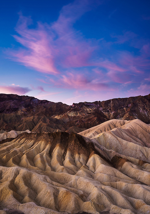 Sunrise from Zabriskie Point, Death Valley National Park, California, USA